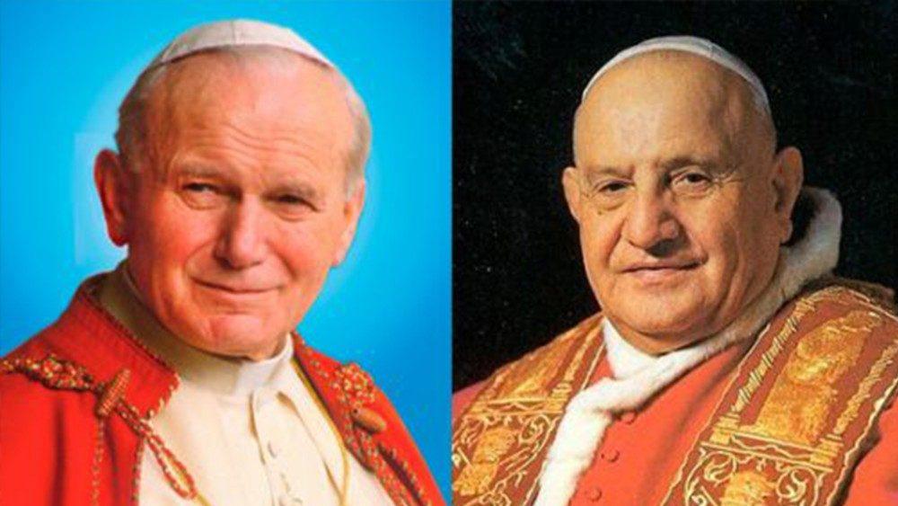 São João Paulo II e São João XXIII: Os dois Papas que elevaram a Catedral de Sant'Ana santos há sete anos