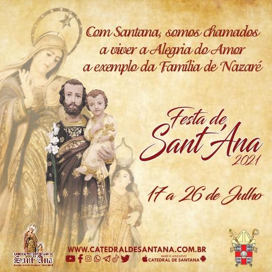 Programação da Festa de Sant'Ana 2021