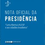 """Nota Oficial da Presidência da CNBB em """"Carta aberta à ALESP e aos cidadãos brasileiros"""""""